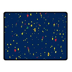 Christmas Sky Happy Double Sided Fleece Blanket (Small)