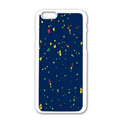 Christmas Sky Happy Apple iPhone 6/6S White Enamel Case