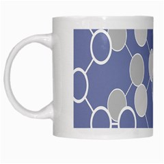 Circle Blue Line Grey White Mugs