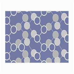 Circle Blue Line Grey Small Glasses Cloth