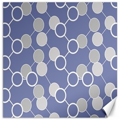 Circle Blue Line Grey Canvas 20  x 20
