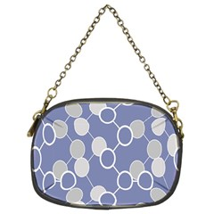 Circle Blue Line Grey Chain Purses (Two Sides)