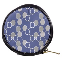 Circle Blue Line Grey Mini Makeup Bags