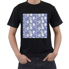 Circle Blue Line Grey Men s T-Shirt (Black)