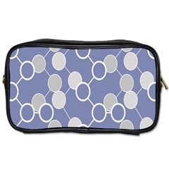 Circle Blue Line Grey Toiletries Bags 2-Side