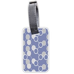 Circle Blue Line Grey Luggage Tags (Two Sides)