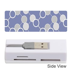 Circle Blue Line Grey Memory Card Reader (Stick)
