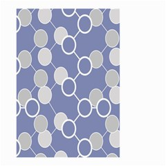 Circle Blue Line Grey Small Garden Flag (Two Sides)