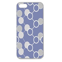 Circle Blue Line Grey Apple Seamless iPhone 5 Case (Clear)