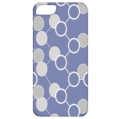 Circle Blue Line Grey Apple iPhone 5 Classic Hardshell Case