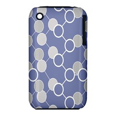 Circle Blue Line Grey iPhone 3S/3GS