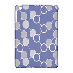 Circle Blue Line Grey Apple iPad Mini Hardshell Case (Compatible with Smart Cover)