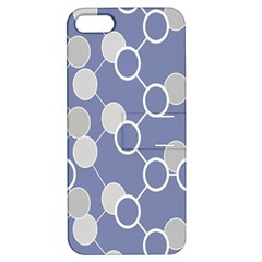 Circle Blue Line Grey Apple iPhone 5 Hardshell Case with Stand