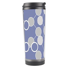 Circle Blue Line Grey Travel Tumbler