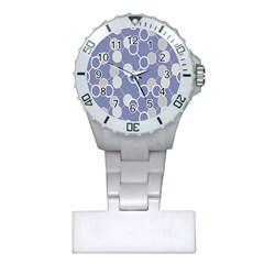 Circle Blue Line Grey Plastic Nurses Watch