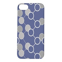 Circle Blue Line Grey Apple iPhone 5S/ SE Hardshell Case