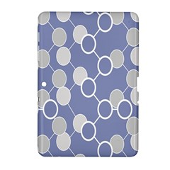 Circle Blue Line Grey Samsung Galaxy Tab 2 (10.1 ) P5100 Hardshell Case