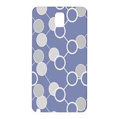 Circle Blue Line Grey Samsung Galaxy Note 3 N9005 Hardshell Back Case