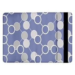 Circle Blue Line Grey Samsung Galaxy Tab Pro 12.2  Flip Case