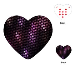 Fabulous Purple Pattern Wallpaper Playing Cards (Heart)