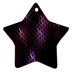 Fabulous Purple Pattern Wallpaper Star Ornament (Two Sides)