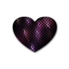 Fabulous Purple Pattern Wallpaper Rubber Coaster (Heart)