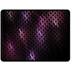 Fabulous Purple Pattern Wallpaper Fleece Blanket (Large)