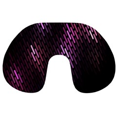 Fabulous Purple Pattern Wallpaper Travel Neck Pillows