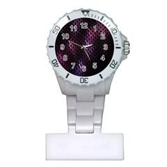 Fabulous Purple Pattern Wallpaper Plastic Nurses Watch