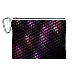 Fabulous Purple Pattern Wallpaper Canvas Cosmetic Bag (L)