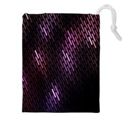 Fabulous Purple Pattern Wallpaper Drawstring Pouches (XXL)