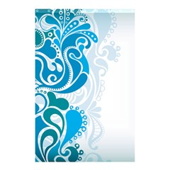 Garphic Leaf Flower Blue Shower Curtain 48  x 72  (Small)