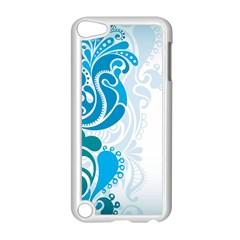 Garphic Leaf Flower Blue Apple iPod Touch 5 Case (White)