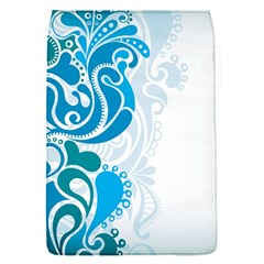 Garphic Leaf Flower Blue Flap Covers (S)