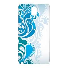 Garphic Leaf Flower Blue Samsung Galaxy Note 3 N9005 Hardshell Back Case