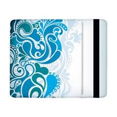 Garphic Leaf Flower Blue Samsung Galaxy Tab Pro 8.4  Flip Case