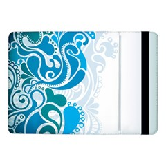 Garphic Leaf Flower Blue Samsung Galaxy Tab Pro 10.1  Flip Case