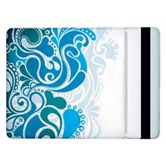Garphic Leaf Flower Blue Samsung Galaxy Tab Pro 12.2  Flip Case