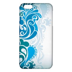 Garphic Leaf Flower Blue iPhone 6 Plus/6S Plus TPU Case
