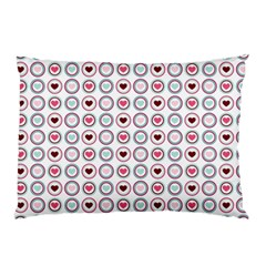 Circle Love Heart Purple Pink Blue Pillow Case (Two Sides)