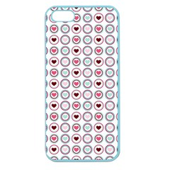 Circle Love Heart Purple Pink Blue Apple Seamless iPhone 5 Case (Color)
