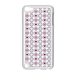 Circle Love Heart Purple Pink Blue Apple iPod Touch 5 Case (White)