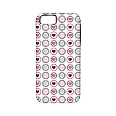 Circle Love Heart Purple Pink Blue Apple iPhone 5 Classic Hardshell Case (PC+Silicone)