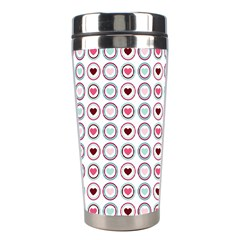 Circle Love Heart Purple Pink Blue Stainless Steel Travel Tumblers