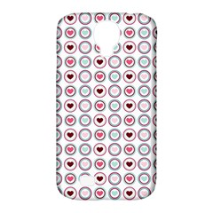 Circle Love Heart Purple Pink Blue Samsung Galaxy S4 Classic Hardshell Case (PC+Silicone)