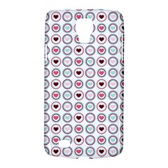 Circle Love Heart Purple Pink Blue Galaxy S4 Active
