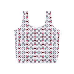 Circle Love Heart Purple Pink Blue Full Print Recycle Bags (S)