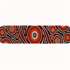 Circle Flower Art Aboriginal Brown Large Bar Mats