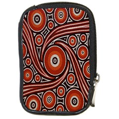 Circle Flower Art Aboriginal Brown Compact Camera Cases