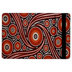 Circle Flower Art Aboriginal Brown iPad Air 2 Flip